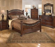 elegant wooden queen bedroom sets with edge carving