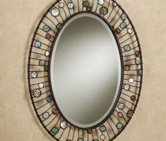enchainting diy oval bathroom mirrors framed