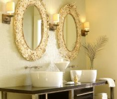 enchanting oval bathroom mirrors with carving framed