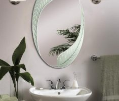 enchanting oval bathroom mirrors with leafe framed decor design