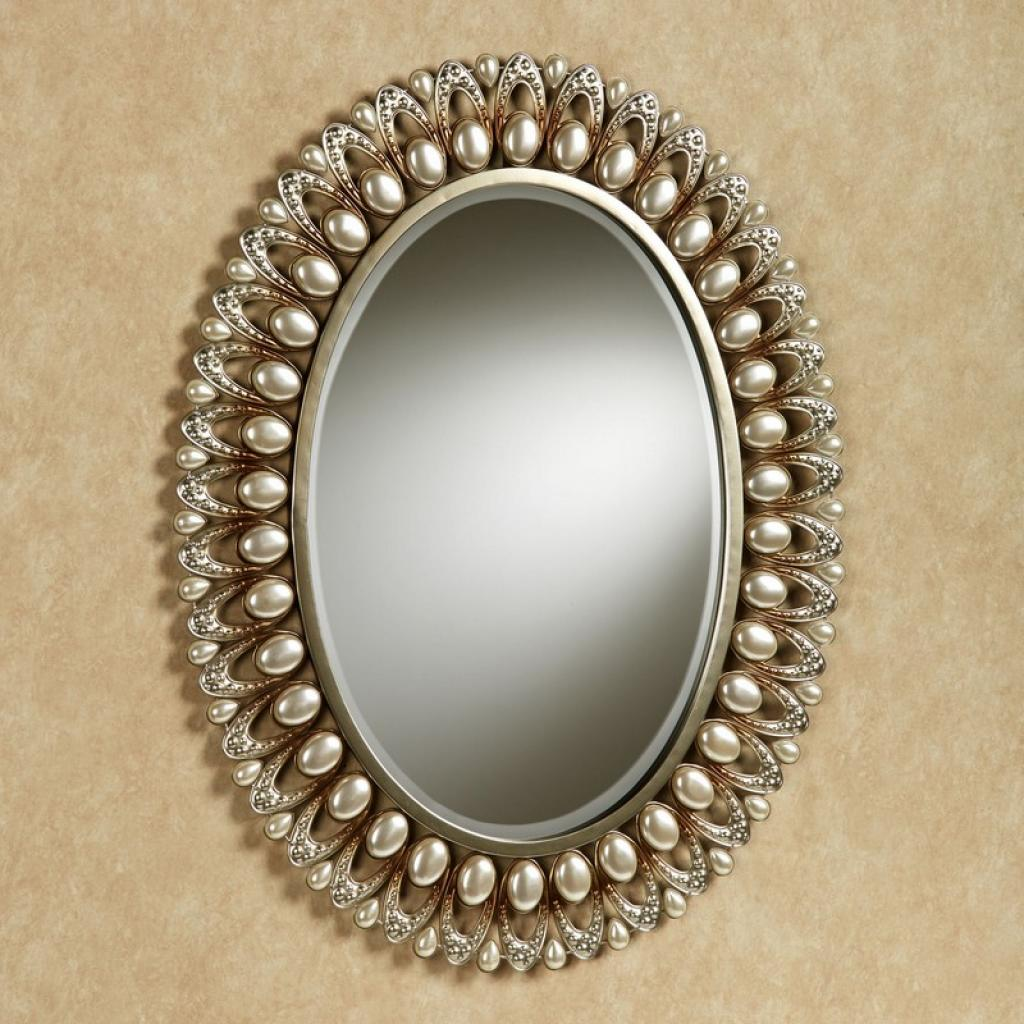 Bathroom mirrors oval with perfect image for Bathroom decor mirrors