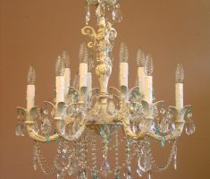 enchanting shabby chic chandeliers crystal design