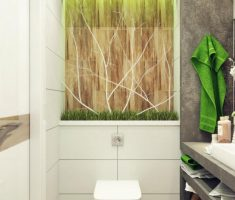 fabulous bathroom for small space with natural decor