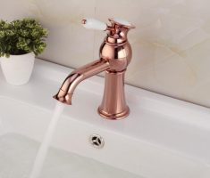 fabulous gold rose vessel sink faucets design