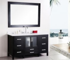 fabulous vanity mirrors for bathroom black theme with drawers