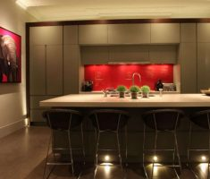 fancy kitchen lighting design with lamps under table