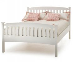 feminim white and pink wooden bed frames