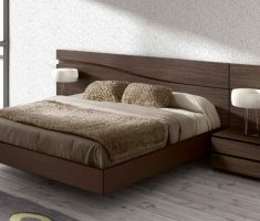 floating small double bed for small bedroom for modern style