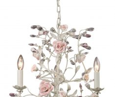 florar rose flower shabby chic chandeliers