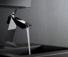 futuristic chrome vessel sink faucets design