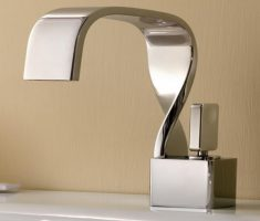 futuristic vessel sink faucets design chrome twist