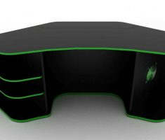 Gaming Computer Desk Corner Inspirations Design with Black and Green Ascent