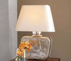 glass bedroom table lamps