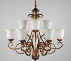 golden and white shabby chic chandeliers