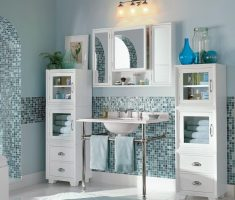 gorgeous blud and white vanity mirrors for bathroom