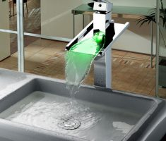 green led vessel sink faucets design