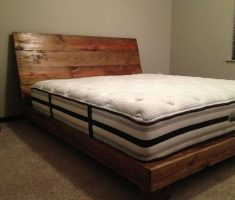 handmade diy wooden bed frames for small space