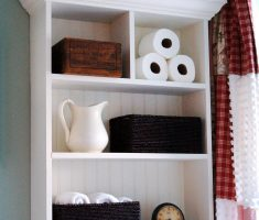 Hanging Small Cabinet with 4 Space Racks for Maximize Your Small Storage Bathroom