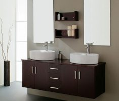 haning modern vanity mirrors for bathroom with rectangle twin mirror