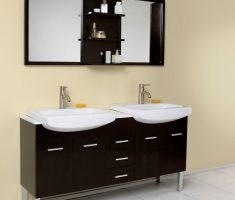 iminimalist black white vanity mirrors for bathroom with drawer mirror