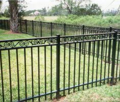 installing metal fence design