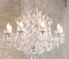 ivory shabby chic chandeliers