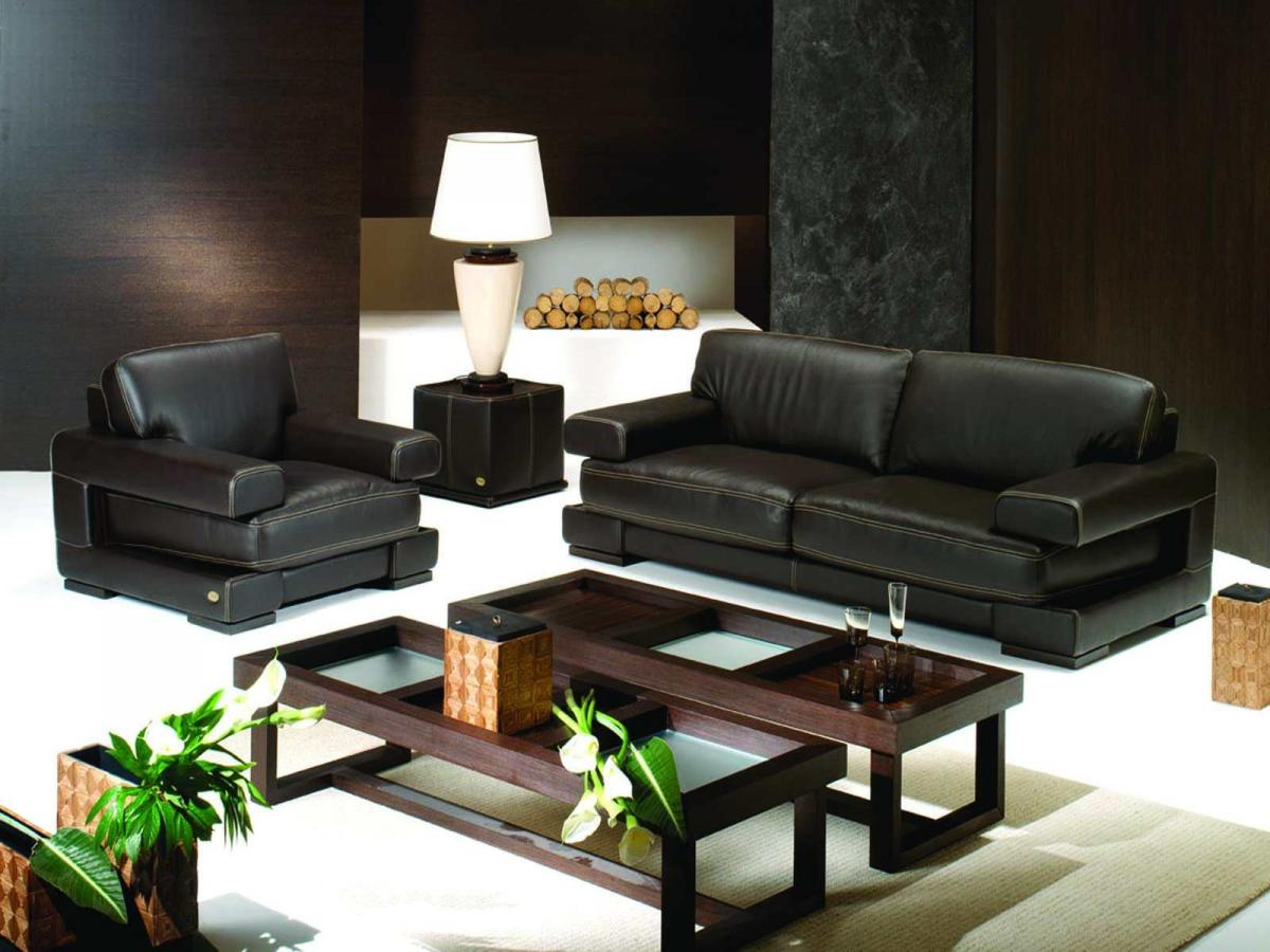 Leather black sofa for living room home inspiring for Black leather sofa living room