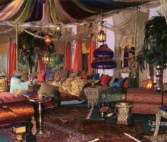 living room with moroccan decoration furnitures
