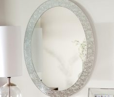 lux oval bathroom mirrors with metal carving framed
