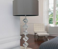 luxurious bedroom table lamps with crystal design