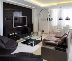 masculine modern living room design for men with leather sofa sets