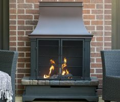 metal propane fireplaces for outdoor
