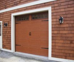 minimalist brown raynor garage doors inspirations with glass window top