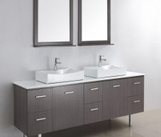 minimalist grey vanity mirrors for bathroom with storage
