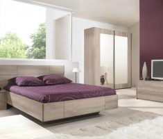 minimalist modern purple queen bedroom sets wtih floating style