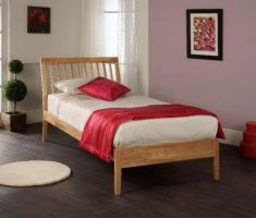 minimalist small double bed for small bedroom for woman with wood material