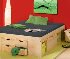 minimalist small double bed for small bedroom with drawers
