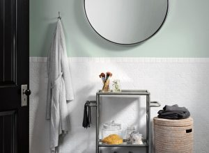 Minimalist Small Storage Bathroom