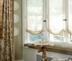 minimalist window treatments for bay windows suit with small curtain