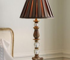 modern bedroom table lamps with metal and glass materials