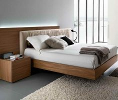 modern floating wooden bed frames