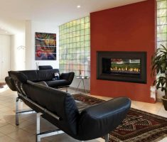 modern liivng room with modern propane fireplaces