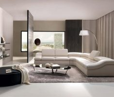 modern living room design with ivory schemed colours