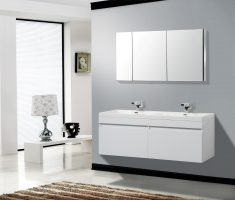 modern lux white vanity mirrors for bathroom