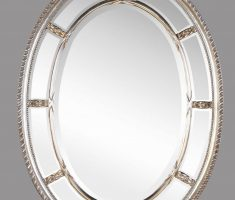 modern metal framed oval bathroom mirrors