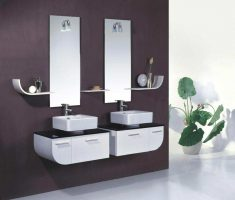 modern minimalist twin vanity mirrors for bathroom haning style