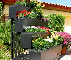 modern stacking pots for flower or small kitchen garden
