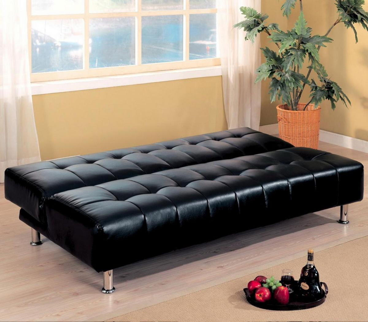 Modern Tufted Black Sofa Bed For Living Room Home Inspiring