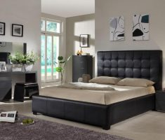 modern tufted queen bedroom sets with ivory mattress
