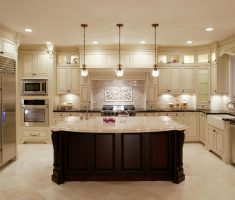 modern u shaped kitchen with contry style design